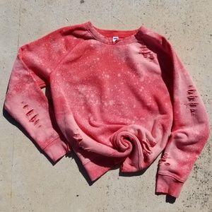 Punky pink 80's styled sweatshirt